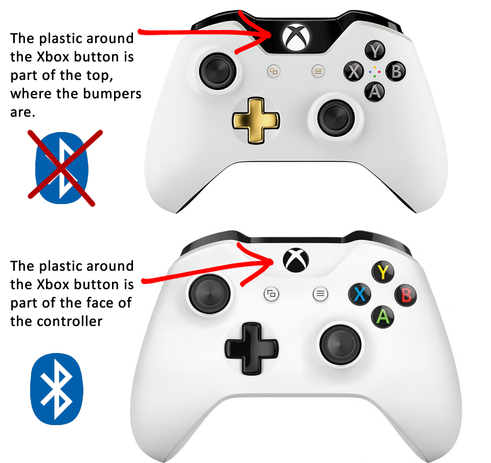 xbox controller με ή χωρίς bluetooth